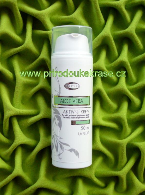 Topvet Aktivní krém Aloe vera 50 ml