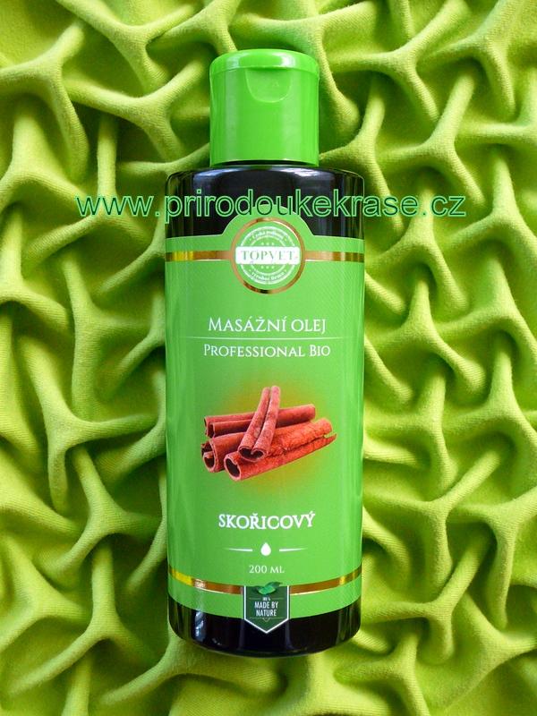 Fotografie Professional BIO Masážní olej Skořicový 200 ml