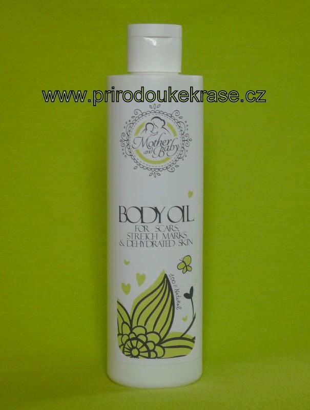 Hristina Přírodní tělový olej pro maminky - na jizvy, strie a dehydrovanou pokožku 250 ml (Tělové oleje)