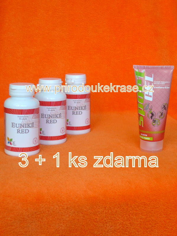 3x Euniké Red + Sport Gel Celustin ZDARMA