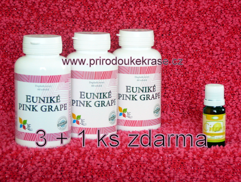 3x Euniké Pink Grape + Citron silice ZDARMA