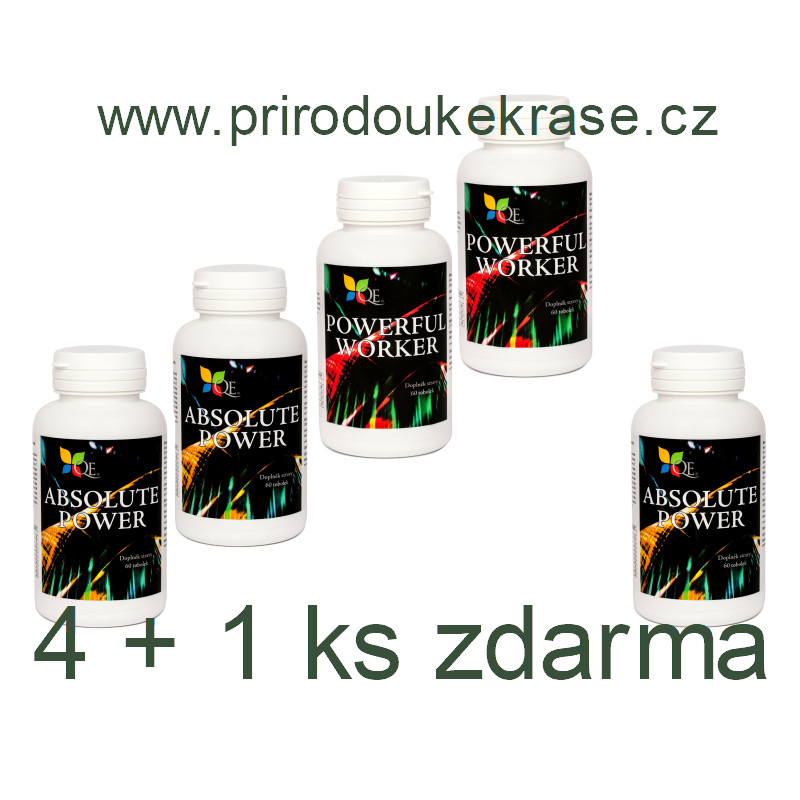 Sada 2x Absolute Power a 2x Powerful Worker s 1x Absolute Power zdarma