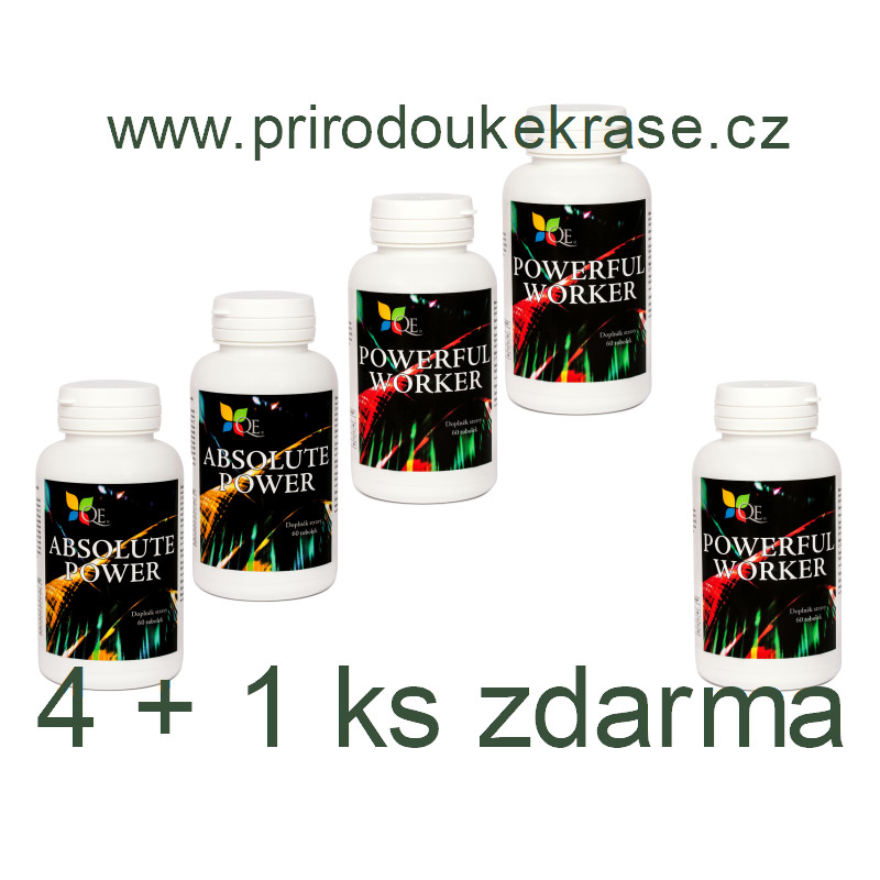 Sada 2x Absolute Power a 2x Powerful Worker s 1x Powerful Worker zdarma